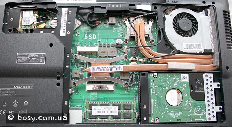 Система охолодження ноутбука